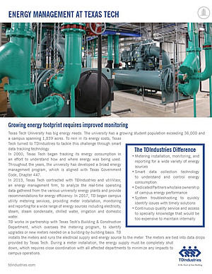 TD Industries and Texas Tech Case Study on Energy Management