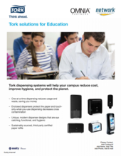 Tork Solutions for Education will help reduce your campus cost