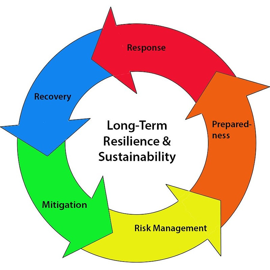 Long-term resilience and sustainability flywheel