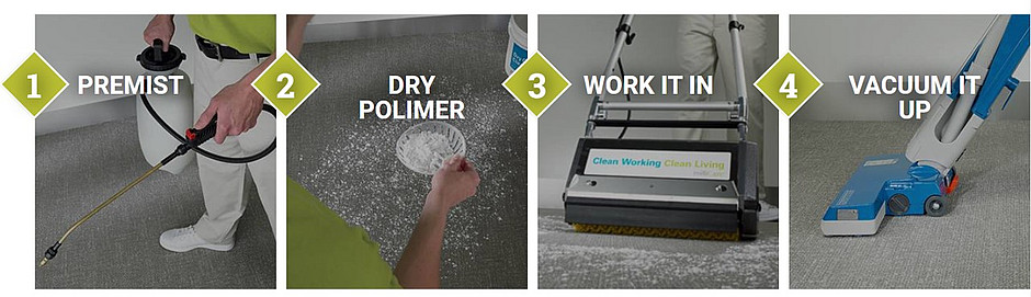 Milliken's Four Step Process to Deep Cleaning your Carpets