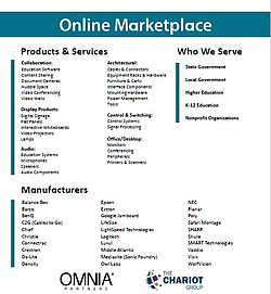 The Chariot Groups online marketplace products & services, who we serve, and manufacturers