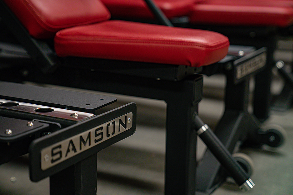 Samson Equipment Workout Bench Branded