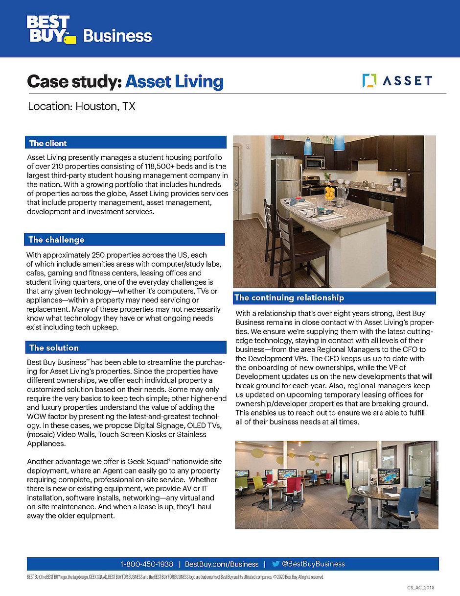 Asset Living Case Study Best Buy Business
