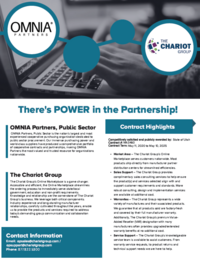 The Chariot Group partners with OMNIA Partners, Public Sector