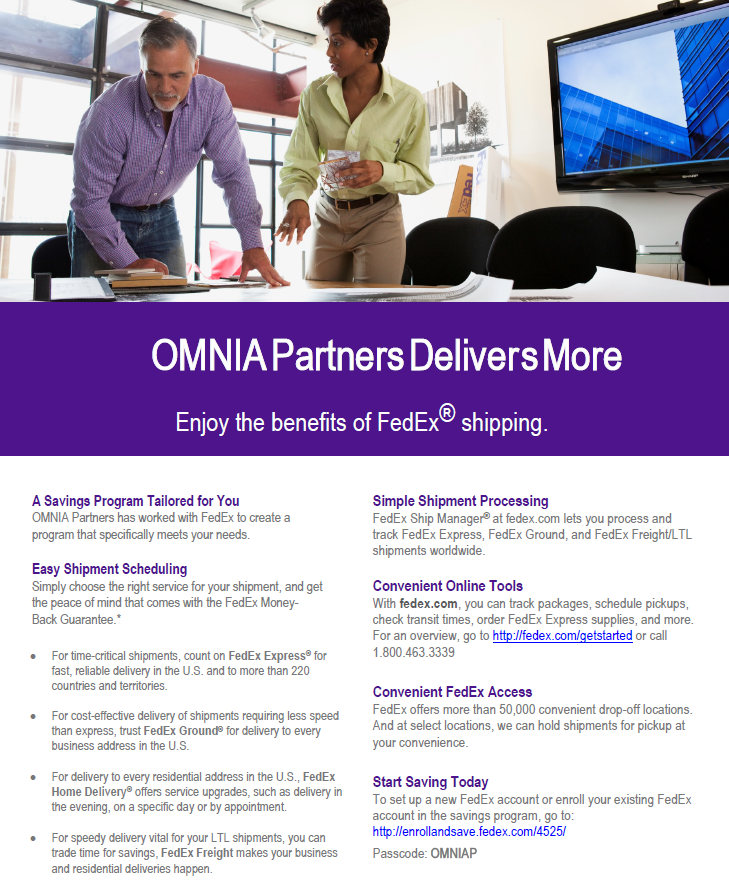 fedex and OMNIA Partners