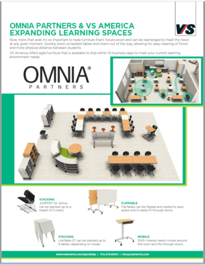 OMNIA Partners & VS American Expanding Learning Spaces for Easy Cleaning & Social Distancing