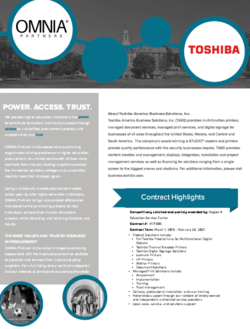 toshiba higher edu