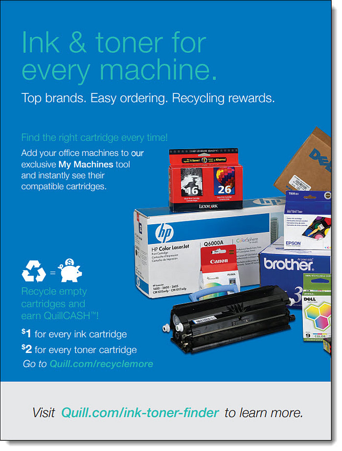Quill Ink & Toner Flyer