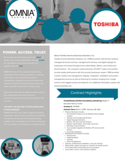 toshiba higher edu contract hightlights