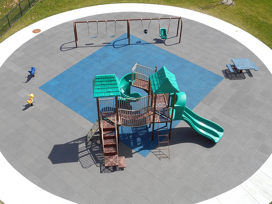 Interlocking Rubber Tiles designed for playground and recreational use
