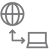 Globe and Computer Reporting Analytics Icon