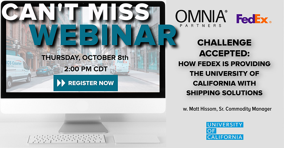 university of california shipping webinar