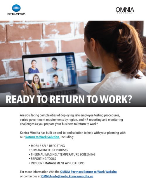 konica minolta return to work