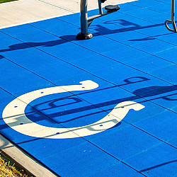 Sport Surface Specialties Design Colts Logo in Rubber Interlocking Tile