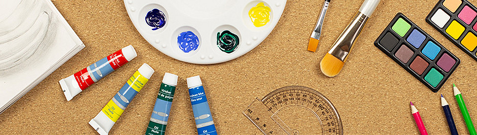 Art Supplies for Educators Banner