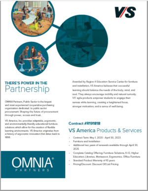 VS America Products & Services Partnership with OMNIA Partners Overview Flyer