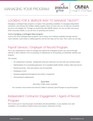 Populus Group Managing Labor Program Flyer