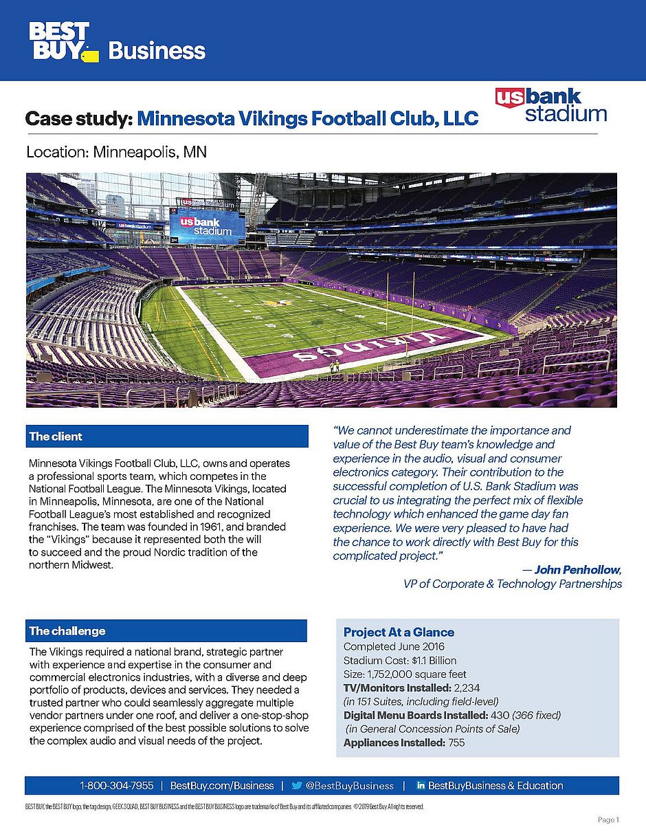 US Bank Stadium Case Study Best Buy Business