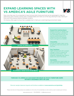 VA America develops expanded learning spaces with their agile furniture
