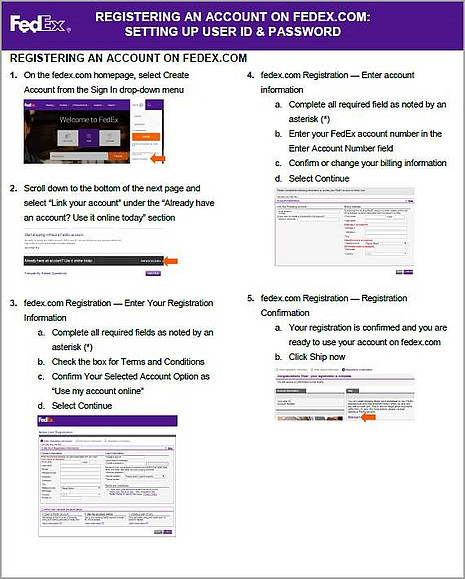 FedEx Registering Account