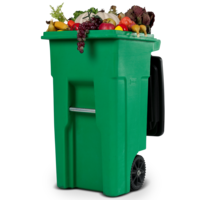 produce in a garbage bin