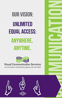 Thumbnail of Visual Communications Services' rack card