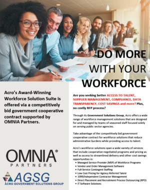 ACRO Government Solutions Group Award Winning Workforce Solution Suite