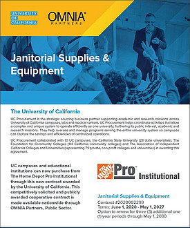 University of California Contract Flyer
