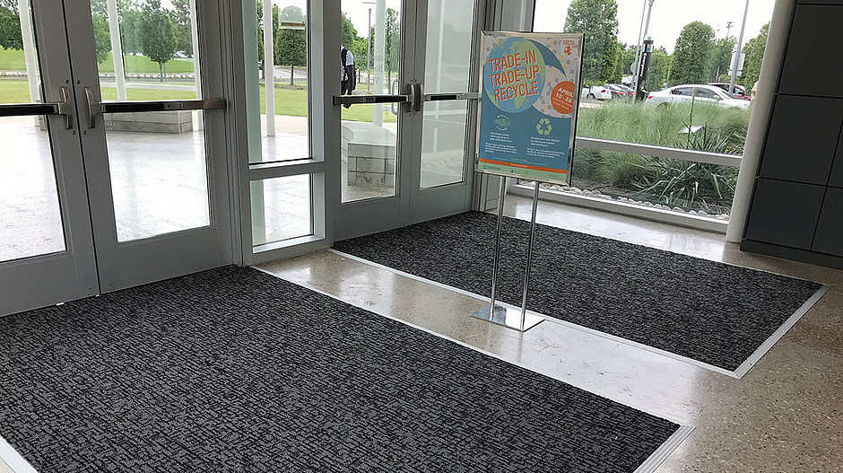 Milliken OBEX entrance systems with proven forms and materials