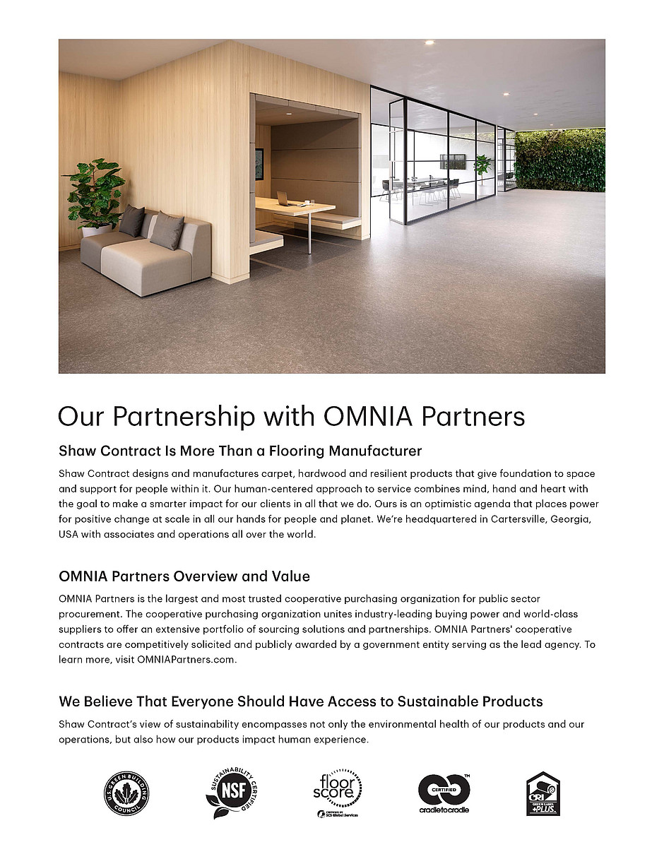 shaw contract and omnia partners cooperative benefits