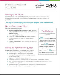 Populus Group Intern Management Flyer