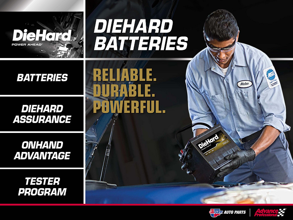 advance auto diehard battery program