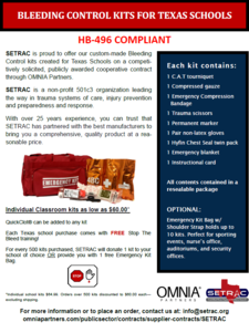 Bleed Control Kits for Texas Schools