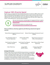 Populus Group Supplier Diversity Flyer