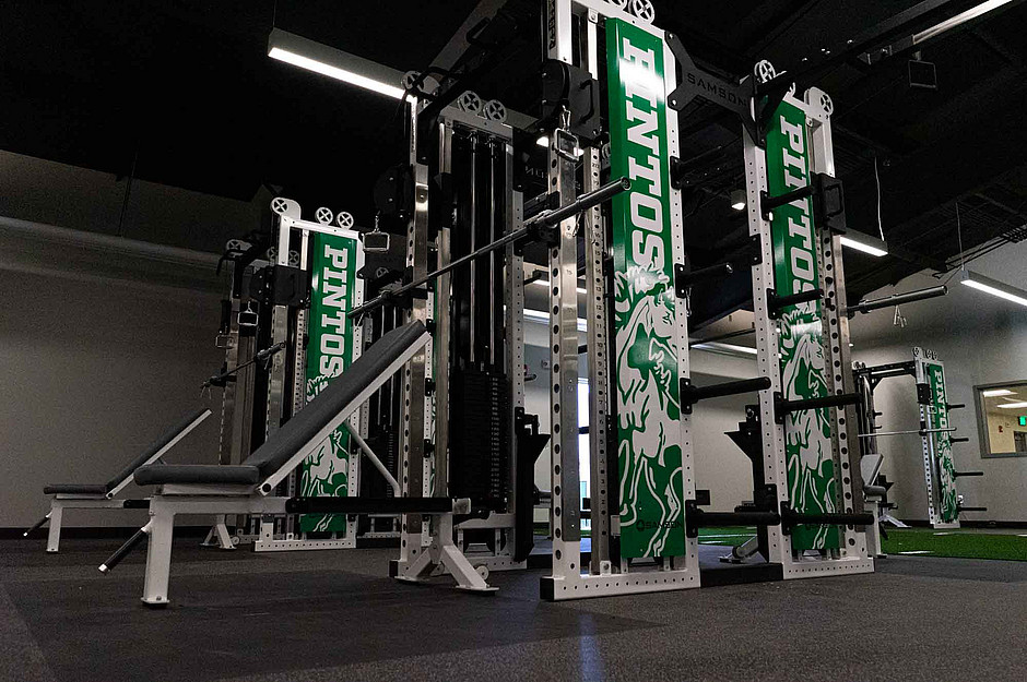 Samson Equipment Weight Rack and Bench at Moriarty High School