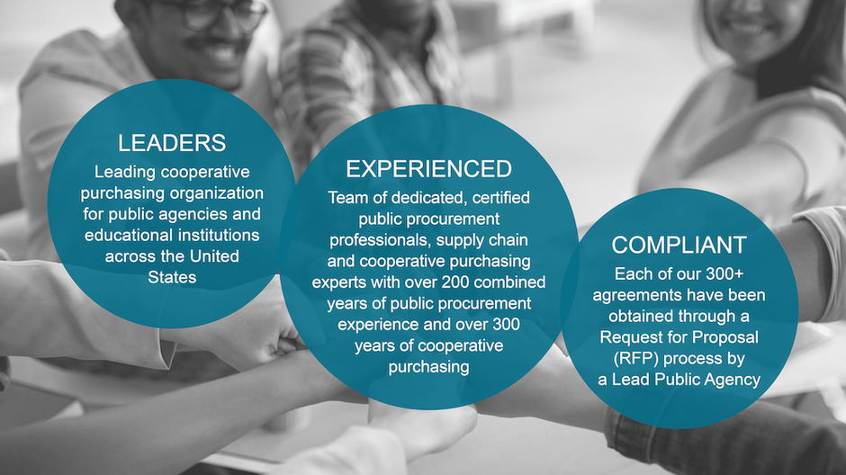 OMNIA Partners leaders, experience and compliance infographic