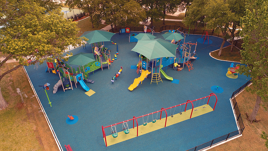 Sport Specialties Aerial Image of a playground