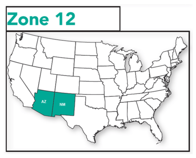 Virco Pricing Zone 12 Map