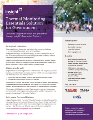 Insight Thermal Monitoring Essentials Solution for Government