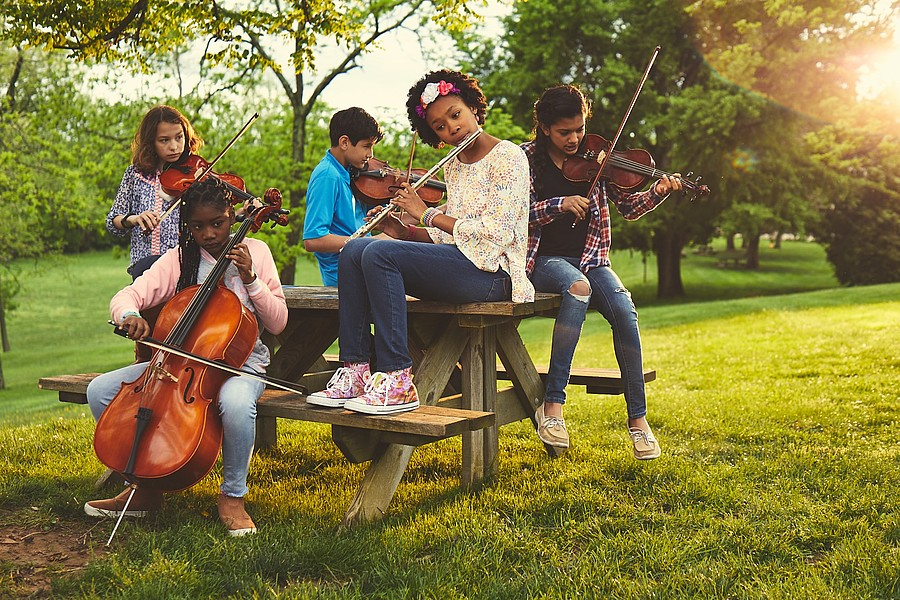 Kids Playing Instruments