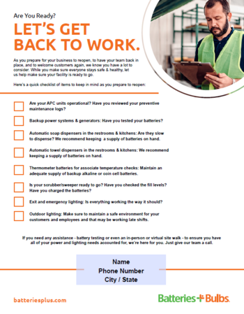 return to work checklist