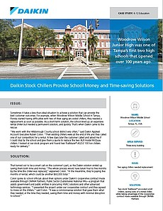 Daikin Stock Chillers Provide School Money and Time-saving Solutions