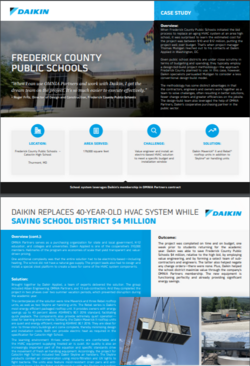 Daikin replaces 40-year-old HVAC system for Frederick Country Public Schools