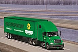 Sunbelt Semi-truck all green Rental