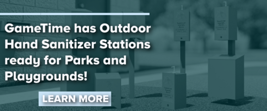 GameTime has Outdoor Hand Sanitizer Stations for Parks & Playgrounds