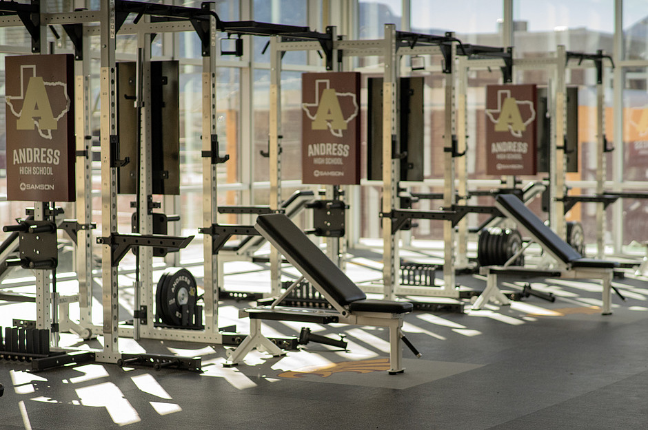 Samson Equipment Andress Highschool Weight Room