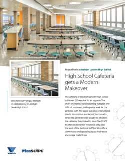 Abraham Lincoln High School Cafeteria gets Modern Makeover from Virco