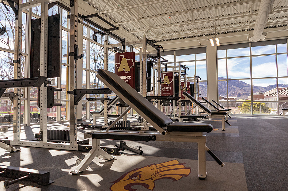 Samson Equipment Andress High School Weight Room Racks