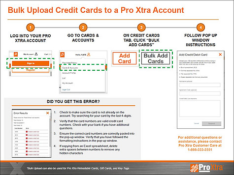 Pro Xtra Bulk Upload for Credit Cards Guide