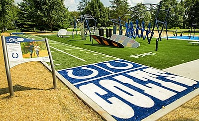 Playground With Indianapolis Colts Turf